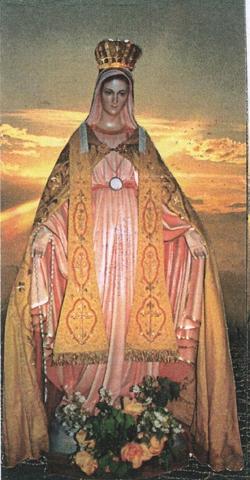 Image de la statue de ND de Kernéguez, exécutée pour ressembler le plus possible aux visions qu'a Mère Jeanne Dunan.