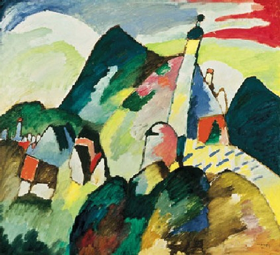 Wassily Kandinsky, Vue de Murnau avec l'église, 1910
