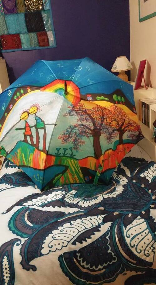 Parapluies en promenade - suite