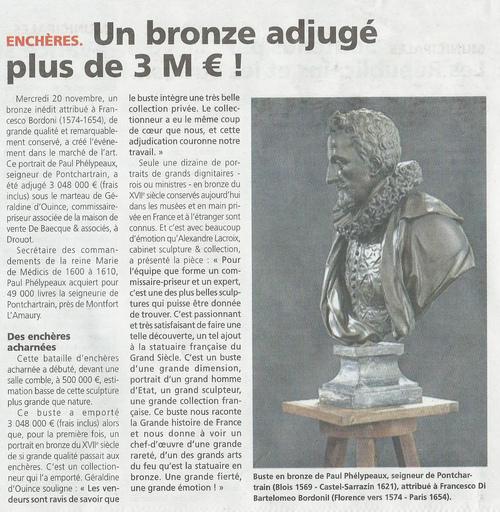 Buste de Paul Phélypeaux