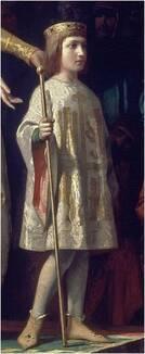 Fernando IV de Castille, enfant. Détail du tableau de Antonio Gisbert.