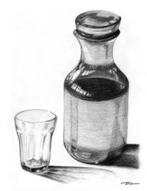 Carafe et verre