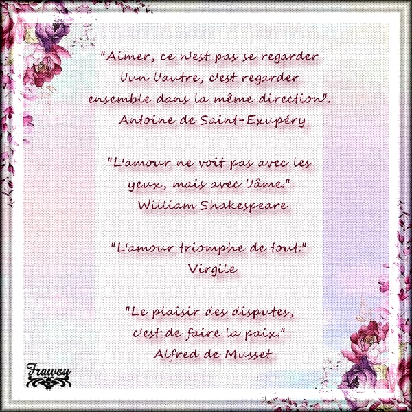 Quelques citations sur l'amour