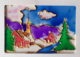 Atelier cartes de Noël donné par Francine Bertrand