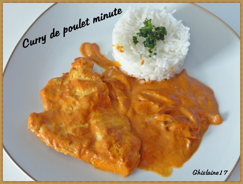 Curry de poulet minute