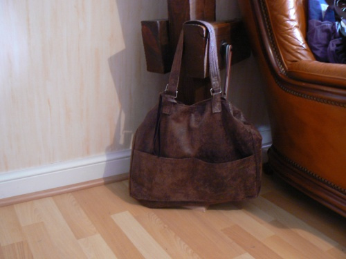 [Sac en simili cuir marron