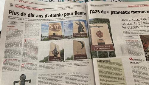 Panneau marron - article (La Voix du Nord 5 Sept 2021)