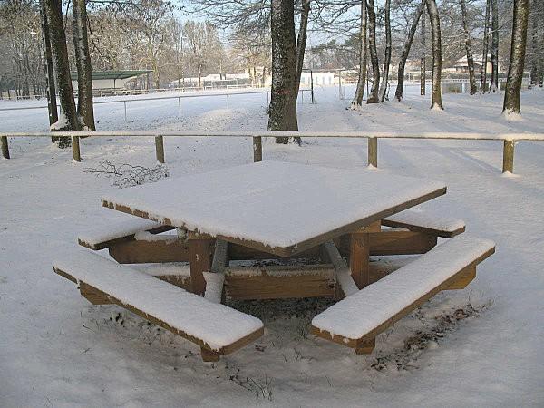 pique-nique sous la neige