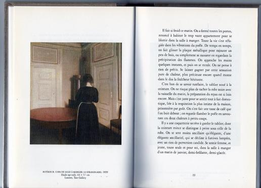 """""""Intérieur""""  Philippe Delerm - Une plongée poétique dans l'oeuvre du peintre  Wilhelm Hammershøi"""