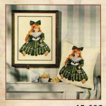 poupées vervaco robe verte