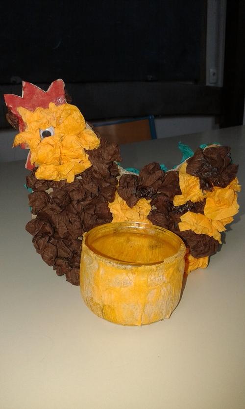 Lapin et poules de Pâques