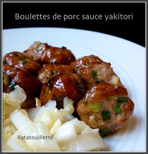 Boulettes de porc sauce yakitori (Japon)