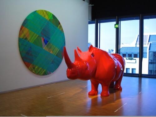 rhinocéros Beaubourg Veilhan 3