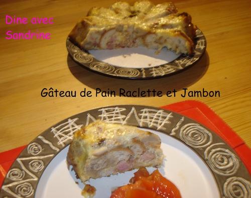 Un Gâteau de Pain Raclette et Jambon
