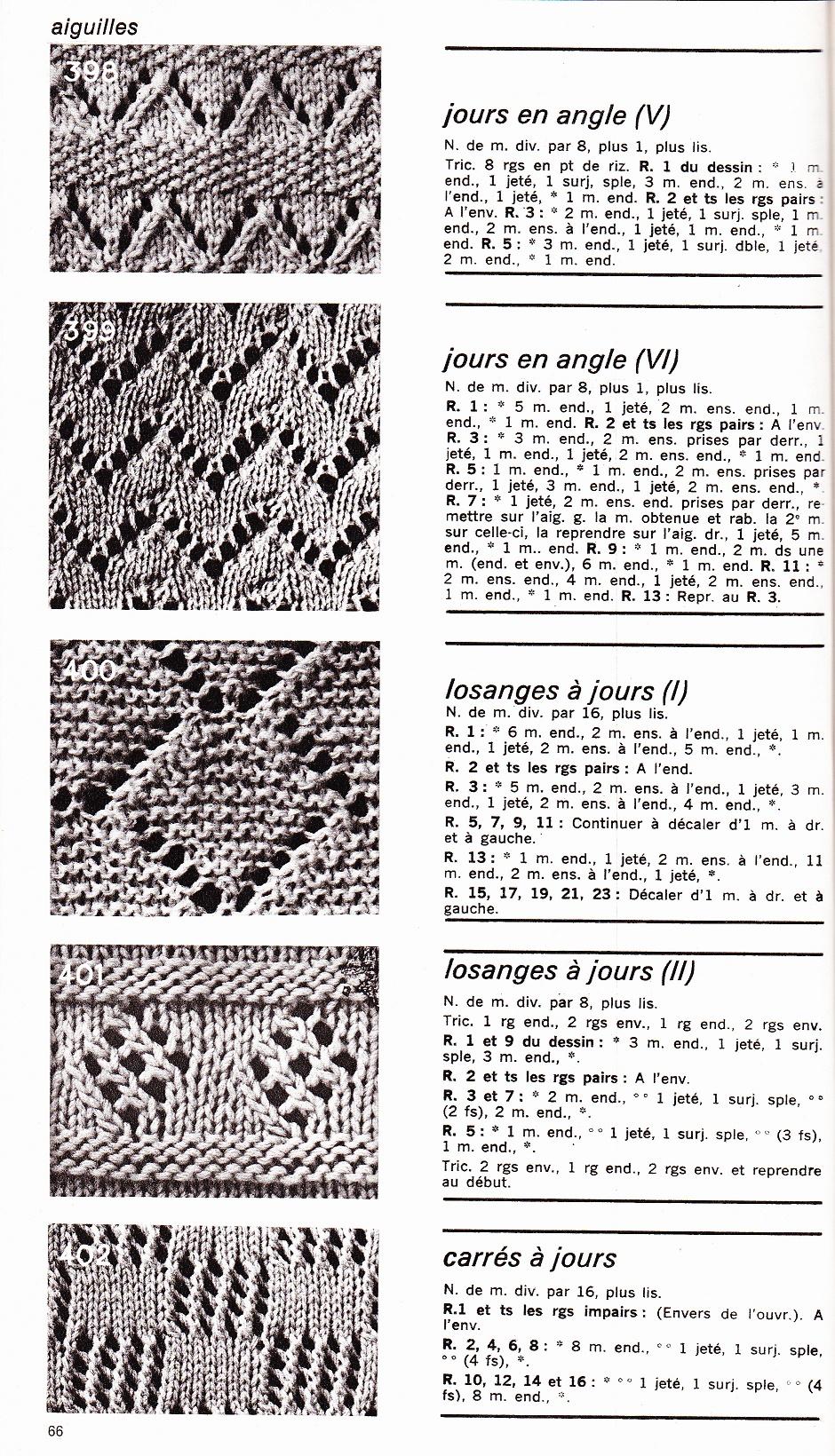 Points ajour s au tricot la malle tr sor de sylvie 2 - Modele de point au tricot ...