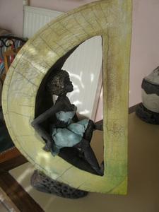 Sculptures sur contenants