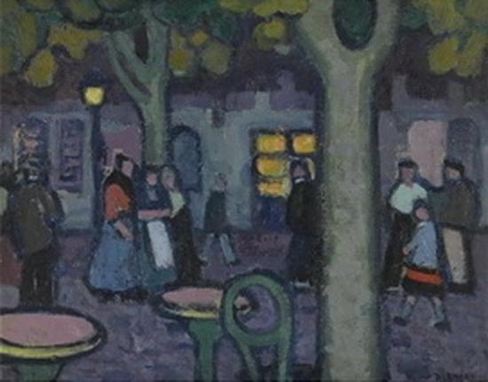 Jessica Dismorr, Scène de Nuit, Martigues, 1911-1912