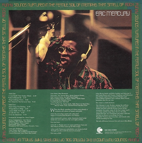 "Eric Mercury : Album "" Funky Sound Nurtured In The Fertile Soil Of Memphis "" Enterprise Records ENS-1020 [ US ]"