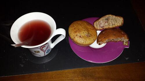 muffins chocolat framboise