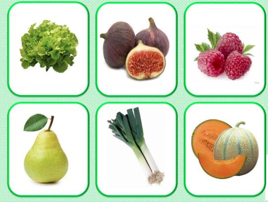 Loto et m mory des fruits et l gumes le jardin d 39 alysse - Fruit ou legume en y ...