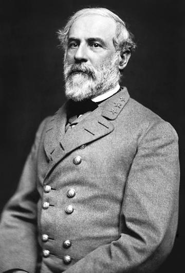 Robert Edward Lee en 1864  (19 janvier 1807, Stratford Hall - Virginie ; 12 octobre 1870, Lexington - Virginie)