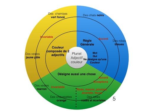 Mandala pluriel adjectif couleur