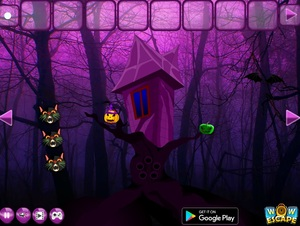 Jouer à Halloween gothic forest escape