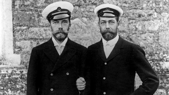 Nicolas II et le futur George V