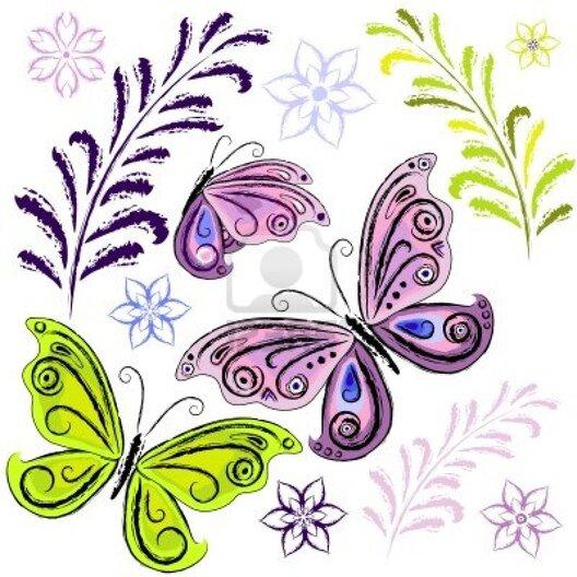Papillons jolis