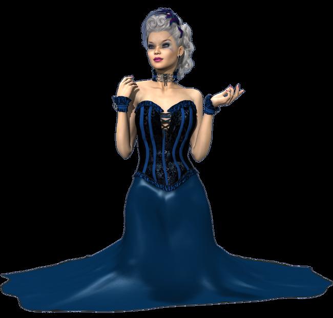 Tube de femme en robe longue (image-render)