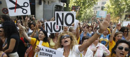 Les Espagnols manifestent leur ras-le-bol face à l'austérité
