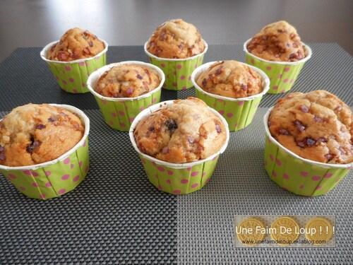 Muffins aux cranberries et au sirop de grenadine