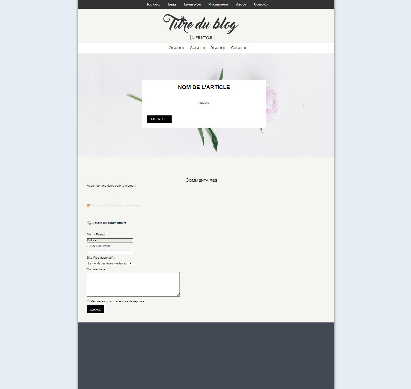 Thème | blog Lifestyle