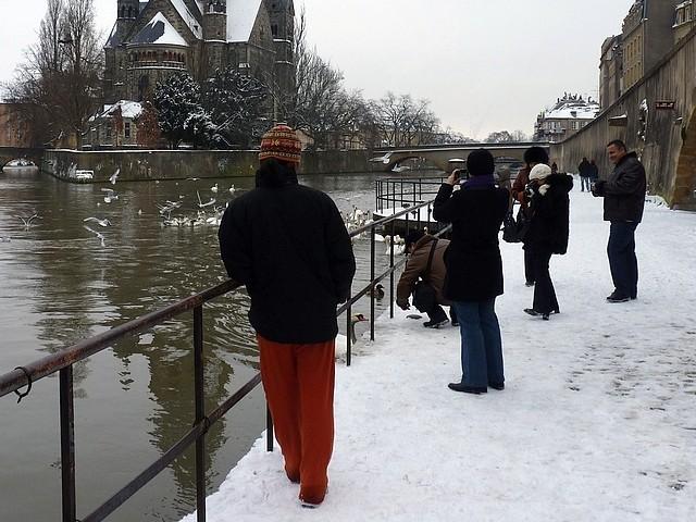 Metz sous la neige 20 Marc de Metz 06 02 2012