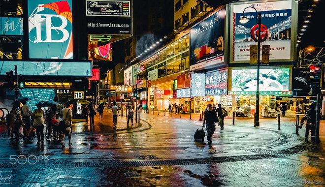 rain photography night