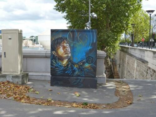 C215 armoires electriques street-art quai 13è prophéte