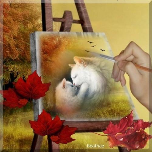 """défi Arlette """"mon ami le chat"""""""