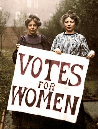 Les suffragettes ...