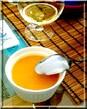 Velouté de lentilles corail au lait de coco et curry