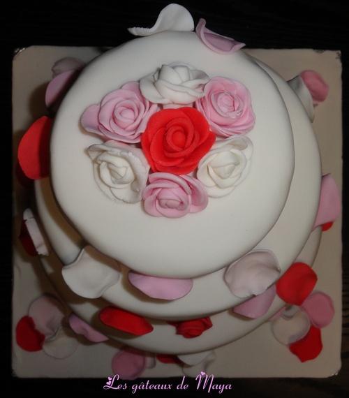 """Gâteau """"Pétales de Roses"""""""