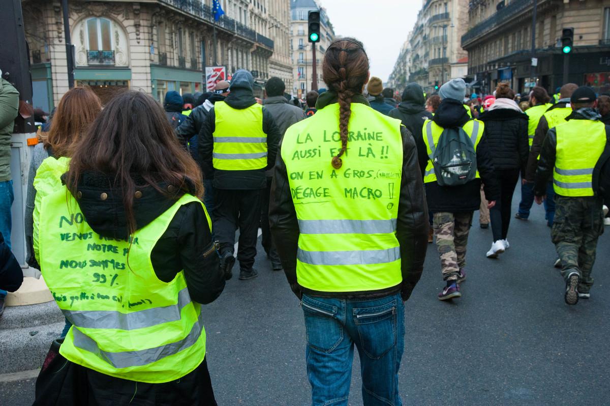 Comme lors des précédentes manifestations parisiennes, nous avons croisé de nombreux provinciaux. La motivation ne retombe pas. - © Reflets