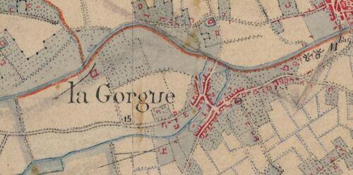 La Gorgue - Carte de l'état-major 1820-1866 (geoportail.gouv.fr)