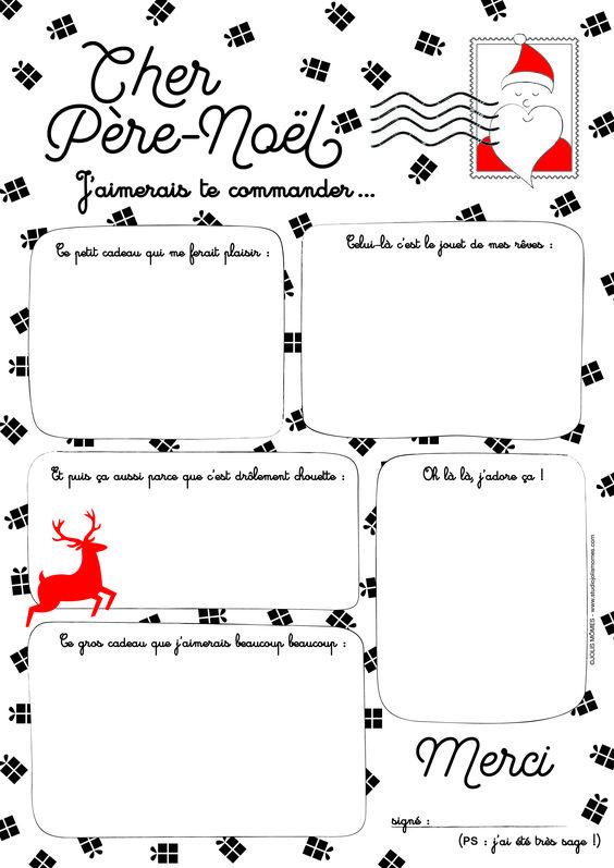 Exemple De Lettre Pour Le Pere Noel.Si On Ecrivait Au Pere Noel L Atelier D Isa