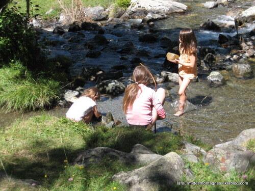 Jeux dans l'eau