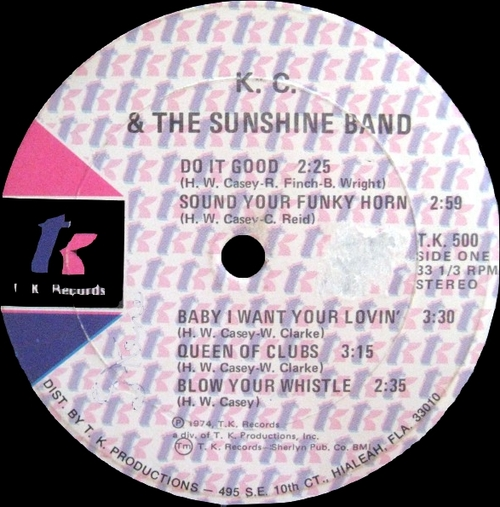 "K.C. & The Sunshine Band : Album "" Do It Good "" T.K. Records TK 500 [ US ]"