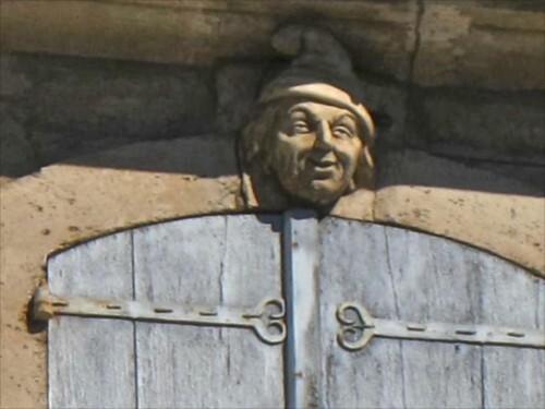 Pézénas mur peint Caulet mascaron 3