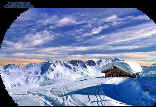 Mist paysage d'hiver