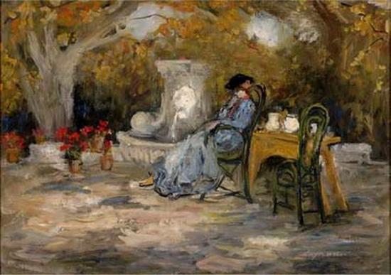 Pierre Laprade, Jeune femme dans un jardin