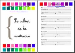 Le cahier de la maîtresse - Version 2015-2016