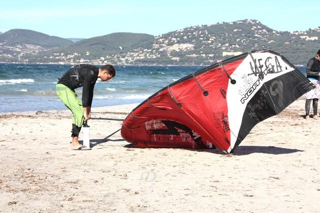 Kitesurf à le presqu'île de Giens